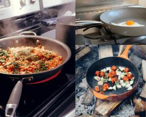 3 different pans