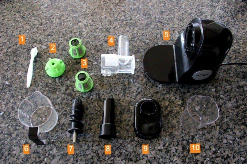 Aicok Slow Masticating Juicer Parts