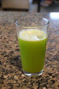 celery juice in a glass