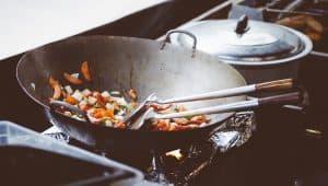 wok with stir fry