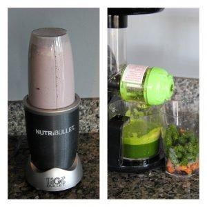 nutribullet and juicer