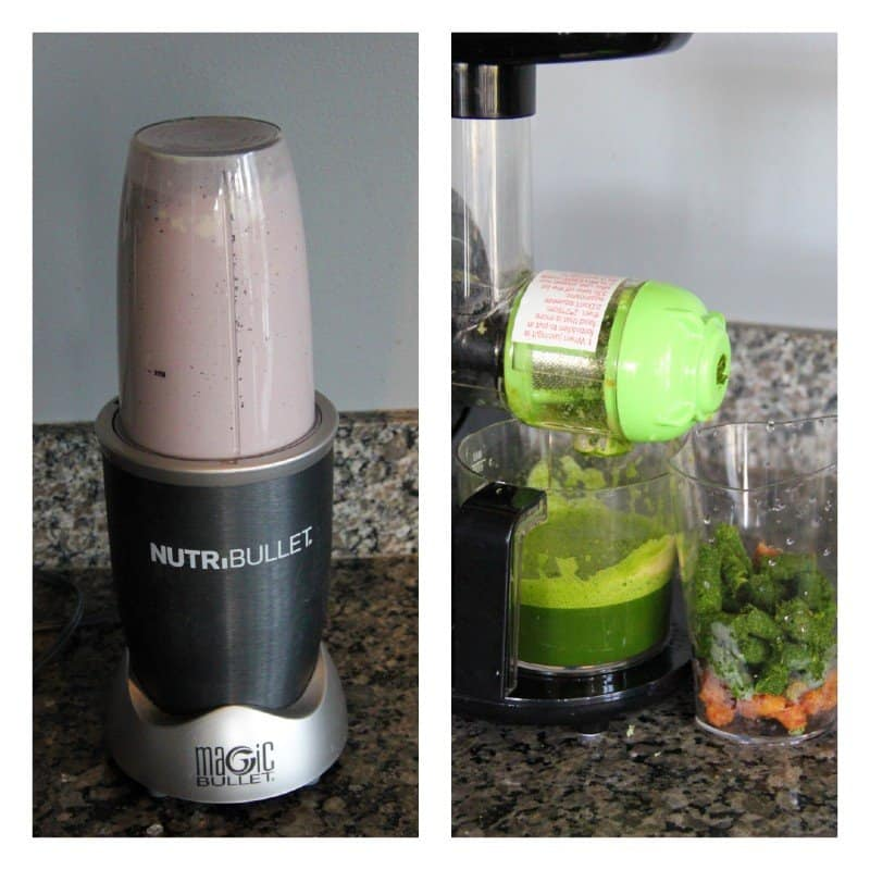 nutribullet and juicer